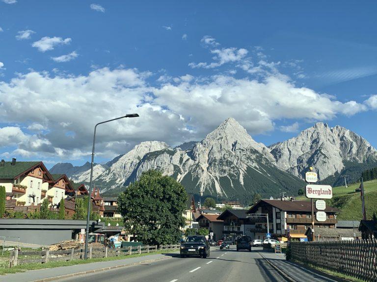Austrian side of Garmisch